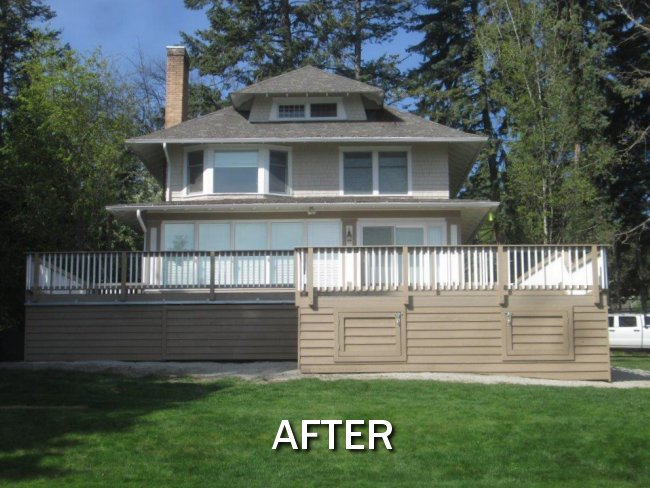 Flathead Lake Deck (After)